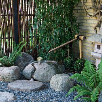 Japansk haveanlæg - velkomstarrangement, kaldet Tzukubai
