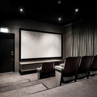 Foto di un home theatre scandinavo