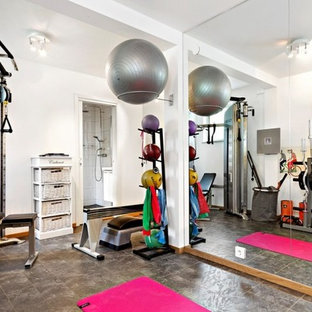 Skandinavischer Fitnessraum in Stockholm