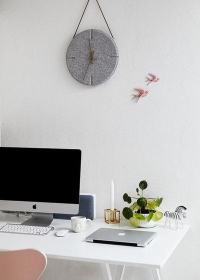 Scandinavian Home Office by Mia Mortensen Photography