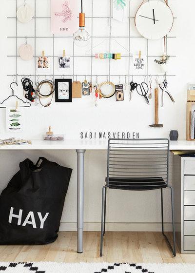 Scandinavian Home Office & Library by Mia Mortensen Photography