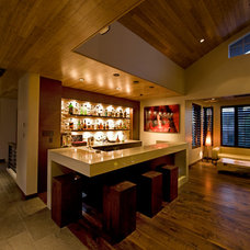 Contemporary Home Bar by Pinnacle Architectural Studio