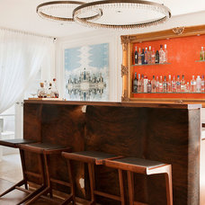 Transitional Home Bar by STUDIOMINT
