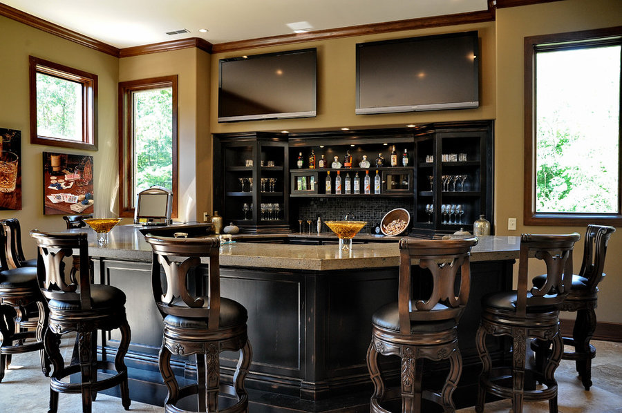 2010 Indianapolis Dream Home basement bar