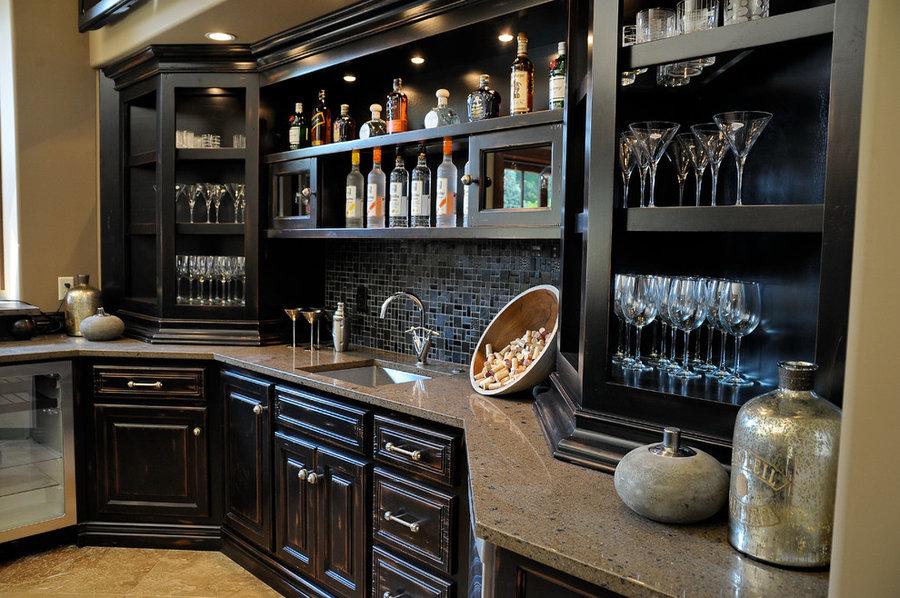 2010 Indianapolis Dream Home basement bar