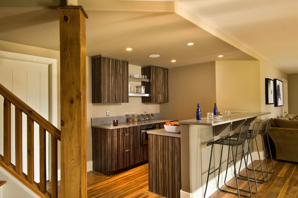 Rustic Home Bar by Witt Construction