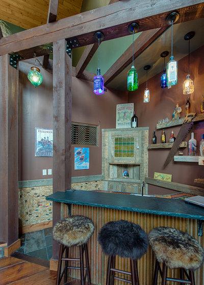 Rústico Bar en casa by Pinetop Custom Homes