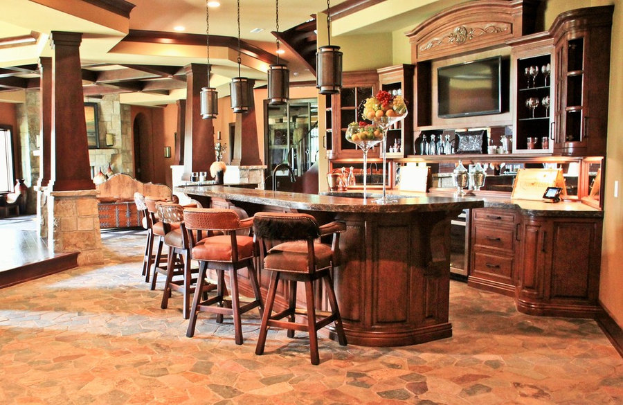 2012 Indianapolis Dream Home basement bar