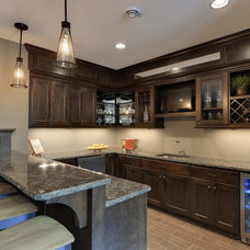Traditional Home Bar by Highmark Builders