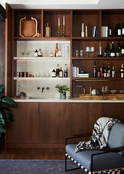 Contemporary Home Bar by Geremia Design