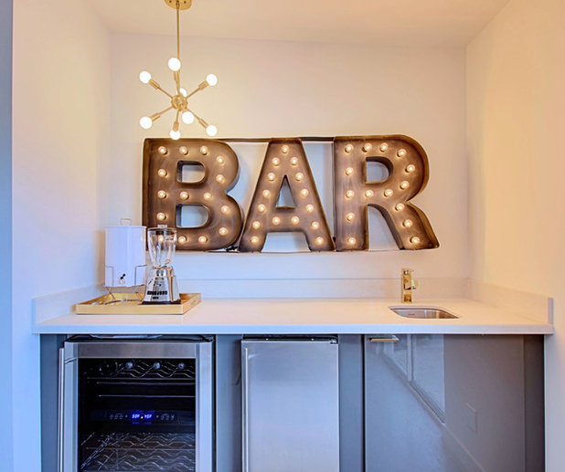 Midcentury Home Bar by Real Estate Judge