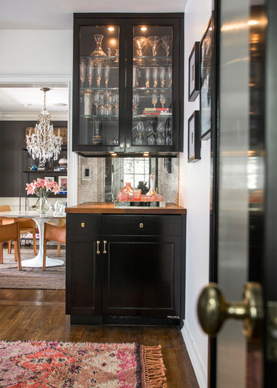 Transitional Home Bar by Cinergy Construction