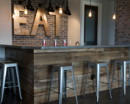 SaveEmail - Reclaimed Wood Bar Houzz