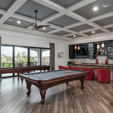 Adult Game Room with Bar