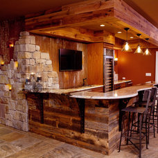 Rustic Home Bar by Cindi B.Jones