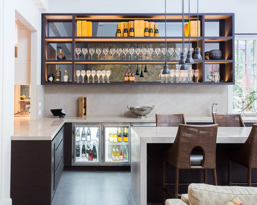 Contemporary Home Bar Design Ideas Renovations Photos