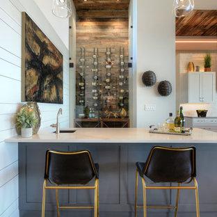 オースティンのトランジショナルスタイルのおしゃれなホームバーの写真