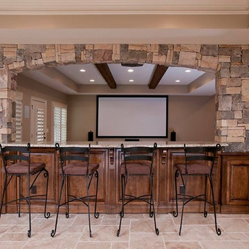 Arched Stone Wall