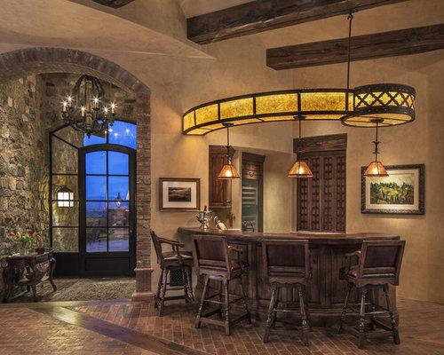 Angolo bar american style con pavimento in mattoni foto for Arredamento american style