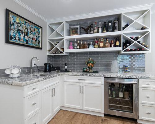 Top 100 Home Bar with Glass Tile Backsplash Ideas & Designs   Houzz