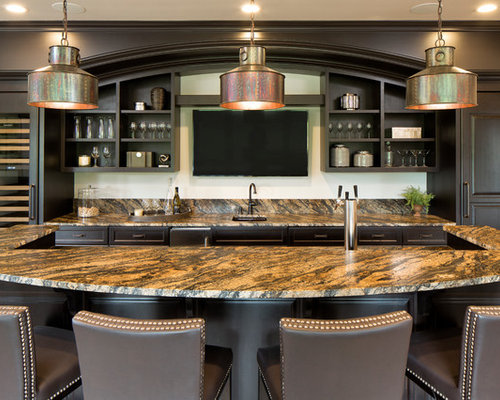 Bar Design Ideas pub interior design ideas modern home bar designs Inspiration For A Timeless Seated Home Bar Remodel With An Undermount Sink Open Cabinets And