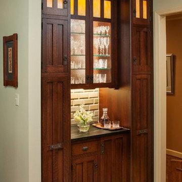 Arts & Crafts Kitchen with Craftsman Door Style