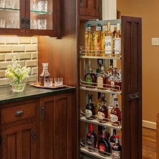 Classic single-wall home bar in Burlington.