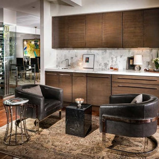 75 Most Popular Mid Sized Midcentury Modern Home Bar Design Ideas