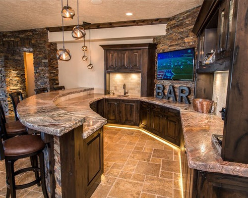 Rustic Seattle Home Bar Design Ideas Remodels