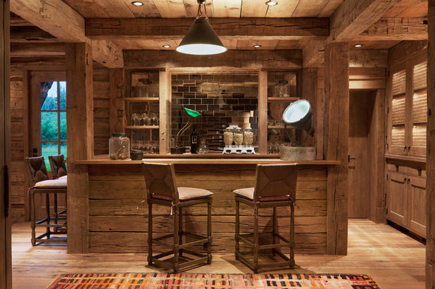 Good Rustic Home Bar By North Fork Builders Of Montana, Inc.