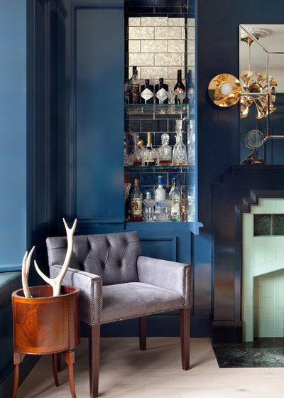 Transitional Home Bar by Kingston Lafferty Design