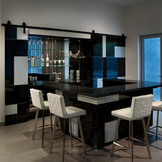 Contemporary Home Bar by Angelica Henry Design