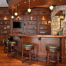 Traditional Home Bar by Rogan Allen Builders LLC