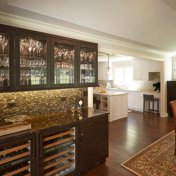 Bar Area with Wine Refrigerator