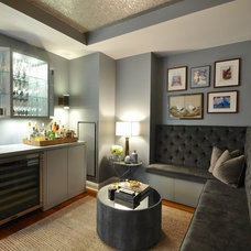 Transitional Home Bar by B.A. Torrey Interiors