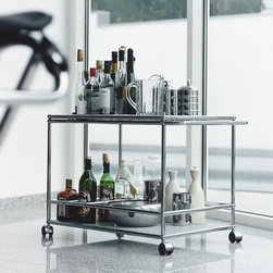 Bar Carts - Haller Modular Serving Cart