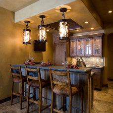 Rustic Home Bar by DesignWorks Development