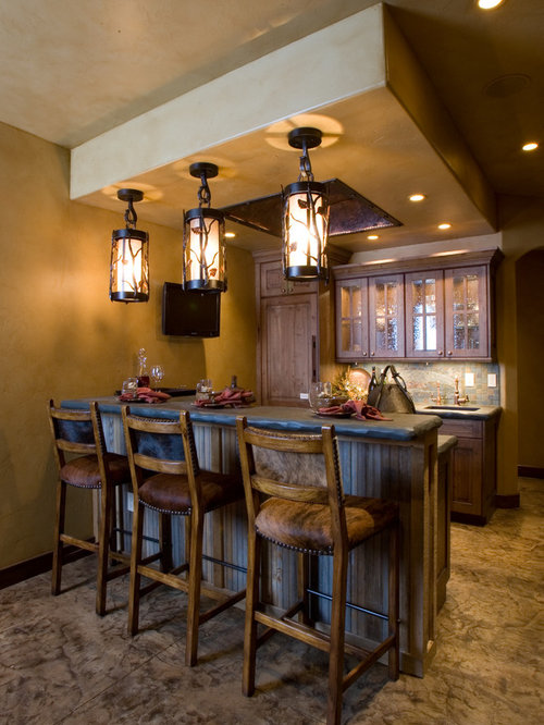 Rustic home bar design ideas remodels photos with gray - Bar decorating ideas pictures ...