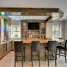 Transitional Home Bar by Divine Custom Homes