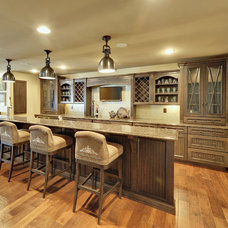 Contemporary Home Bar by Echelon Custom Homes