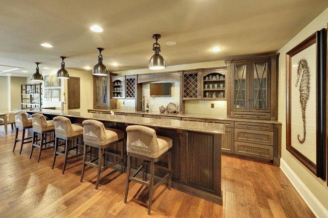 Contemporary Home Bar by Echelon Custom Homes