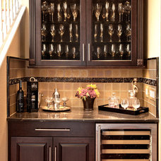 Contemporary Home Bar by Kitchen Center Plus