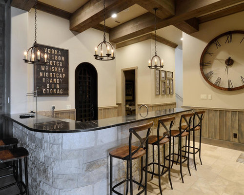 Rustic Home Bar Design Ideas, Remodels & Photos