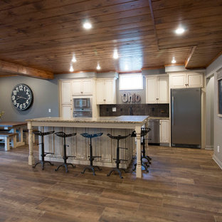 Home bar - large country home bar idea in Other