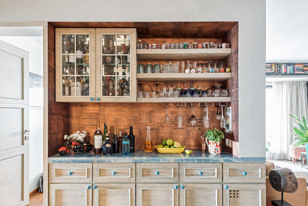 Eclectic Home Bar by P S Design