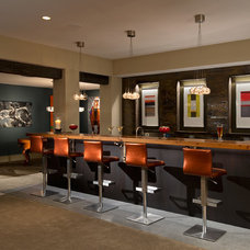 Rustic Home Bar by Columbia CabinetWorks