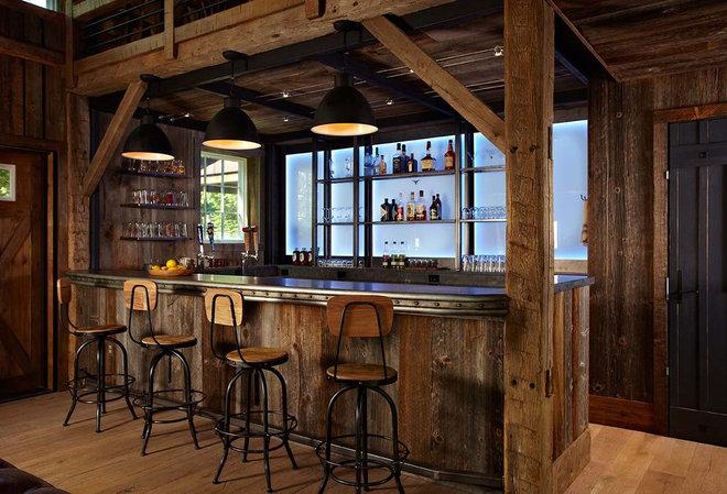 Farmhouse Home Bar by Kelly & Co.