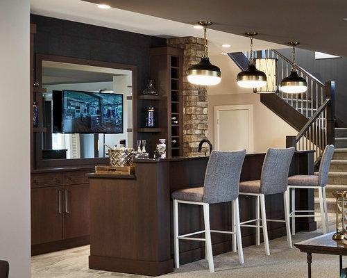 Bar de salon parall le moderne photos et id es d co de - Bar de salon moderne ...