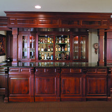 Traditional Basement by Media Rooms Inc