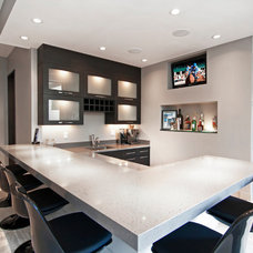 Contemporary Home Bar by 360-Vip Photography